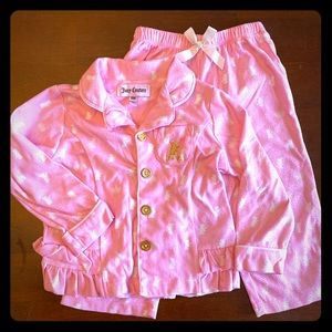Juicy Couture 2 pc Flannel PJ's Sz 18 mo